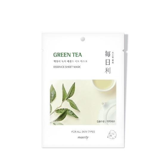 Maeily Green Tea Essence Sheet Mask Тканевая маска на основе Зеленого Чая