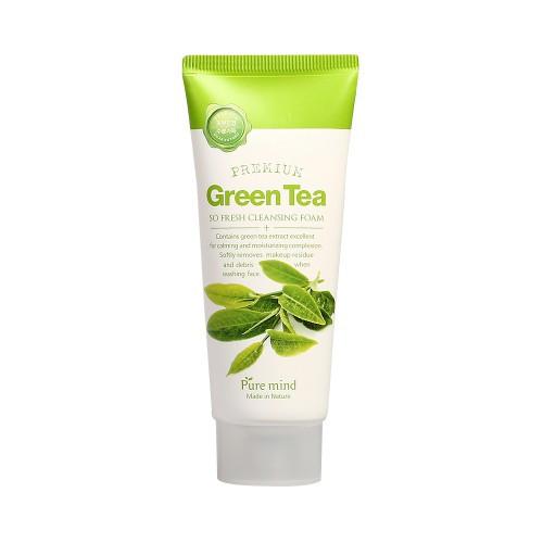 Puremind Premium Green Tea Cleansing Foam Пенка для Умывания с Зеленым Чаем 100гр.