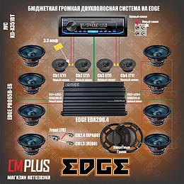 Громкая бюджетная аудиосистема на монобренде EDGE