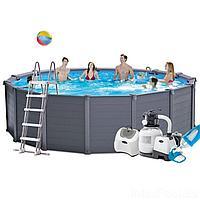 Каркасный бассейн Intex 26384 - 10, 478 х 124 см (5 г/ч, 6 000 л/ч, набор, лестница, тент, подстилка)