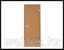 Дверь для сауны Harvia STG, 7x19 (короб - сосна, стекло - бронза, ручка - магнит)