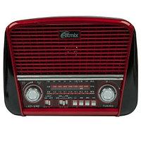 Радиоприемник в стиле ретро с фонариком Ritmix RPR-050 {FM, USB, microSD, AUX, MP3, WMA} (Красный)