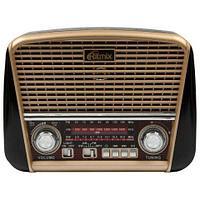 Радиоприемник в стиле ретро с фонариком Ritmix RPR-050 {FM, USB, microSD, AUX, MP3, WMA} (Золотистый)
