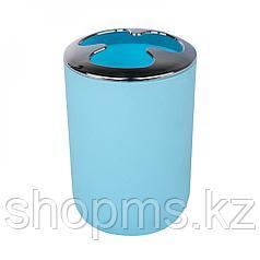 Подставка д/зубн.щеток Муар голубой PP0328C-TBH