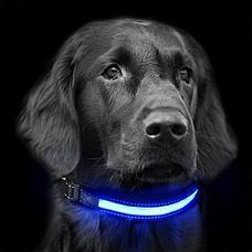 Уценка! Светодиодный ошейник для собак usb, фото 3