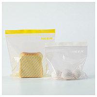ИСТАД Пакет пластиковый, желтый/белый