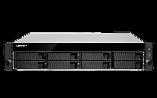 """Сетевое оборудование QNAP Сетевой RAID-накопитель TS-832XU-RP-4G EU-RU, 8 отсеков 3,5""""/2,5"""", 2 порта 10 GbE SFP+, стоечное исполнение, 2 блока"""