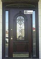 Дверь входная по индивидуальному заказу с ковкой