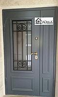 Дверь металлическая бронированная со стеклом в Алматы