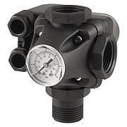 """Реле давления в сборе (манометр+тройник) для насосной станции 1,4-2,8 бар G1"""" XPD-2-3W"""
