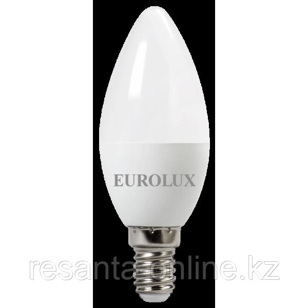 Лампа светодиодная EUROLUX LL-E-C37-6W-230-2,7K-E14