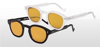 Фуллереновые очкиTesla желтая оправа зеркальные