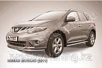 Защита переднего бампера d57+d42 двойная Nissan Murano 2010-15