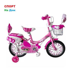 """Велосипед Phillips на 2-3 года для девочек """"Принцесса+"""" рама 12 (цвет -розовый)"""