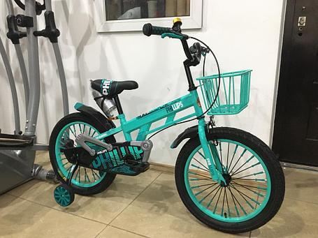 Велосипед Phillips на 5-6 лет с холостым ходом рама 18 (цвет-зеленый), фото 2