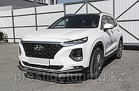 Защита переднего бампера d57 Hyundai SANTA FE 2018-