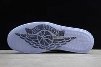 """Кожаные кроссовки Dior x Air Jordan 1 High OG AJ1 """"Grey/White-Black"""" (36-46), фото 5"""