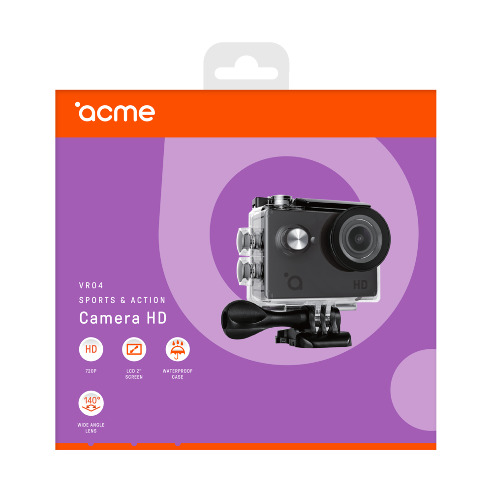 Экшн видеокамера ACME VR04 Compact HD 5 MP угол обзора 140