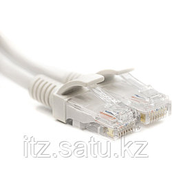 Патч-корд PowerPlant Cat5E UTP 1м, белый