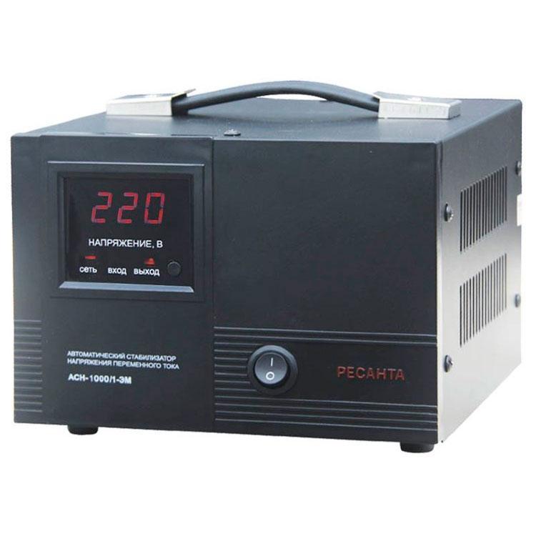 Стабилизатор напряжения РЕСАНТА АСН-1000/1-ЭМ 1 кВт Однофазный электромеханический