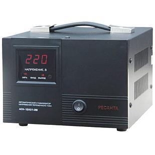 Стабилизатор напряжения РЕСАНТА АСН-1500/1-ЭМ 1,5 кВт Однофазный электромеханический