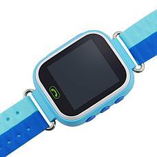 Детские смарт-часы Q80 1.44, цвет синий + голубой, фото 2