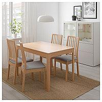 ЭКЕДАЛЕН Раздвижной стол, дуб, 120/180x80 см, фото 1