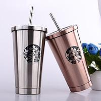 Starbucks стакан с трубочкой, Stainless Steel 0,5 мл, фото 1