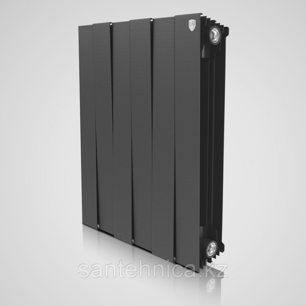 "Радиатор биметаллический ""Royal Thermo"" Piano Forte Noir Sable 591/80/100 мм Россия 189 Вт/2.2 кг"