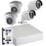 Hikvision DS-J142I-2 Комплект видеонаблюдения (IP 4 Видеокамеры+ Видеорегистратор)
