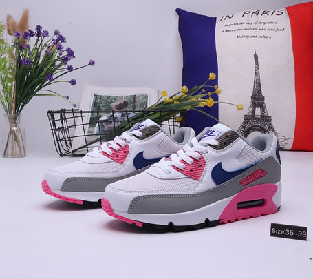 "Женские кроссовки Nike Air Max 90 ""White\Pink"" (36-39), фото 2"