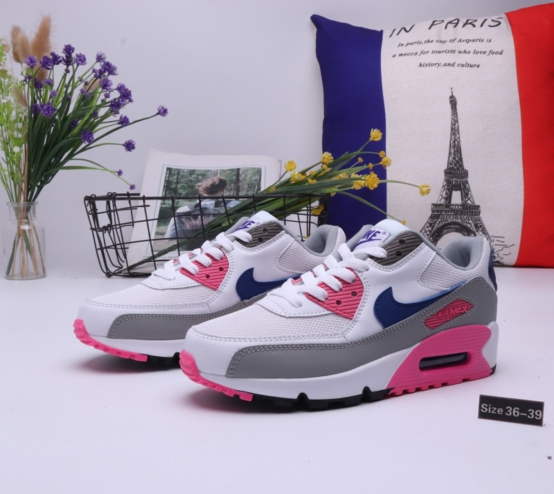 "Женские кроссовки Nike Air Max 90 ""White\Pink"" (36-39)"
