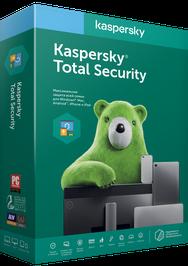 Антивирус Kaspersky Total Security на 1 год для 2 ПК, продление