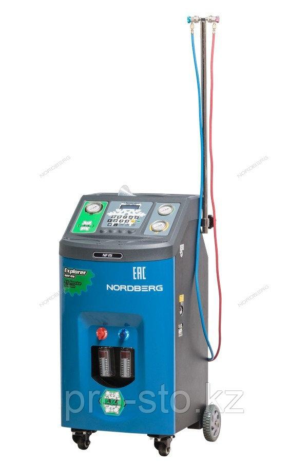УСТАНОВКА полуавтомат для заправки автомобильных кондиционеров NORDBERG NF15