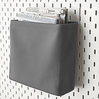 СКОДИС Текстильный контейнер, белый, серый, серый, белый