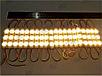 Светодиодные модули или кластеры с линзами. 6717- 3 линзы. 5730 желтый, фото 2