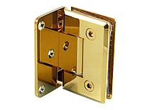 Петля золотая стена-стекло с односторонним креплением | FGD-57BR/TP | Латунь