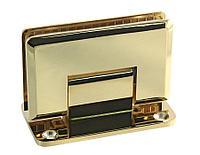 Петля золотая стена-стекло центральное крепление монтажной пластины | FGD-55BR/TP | Латунь