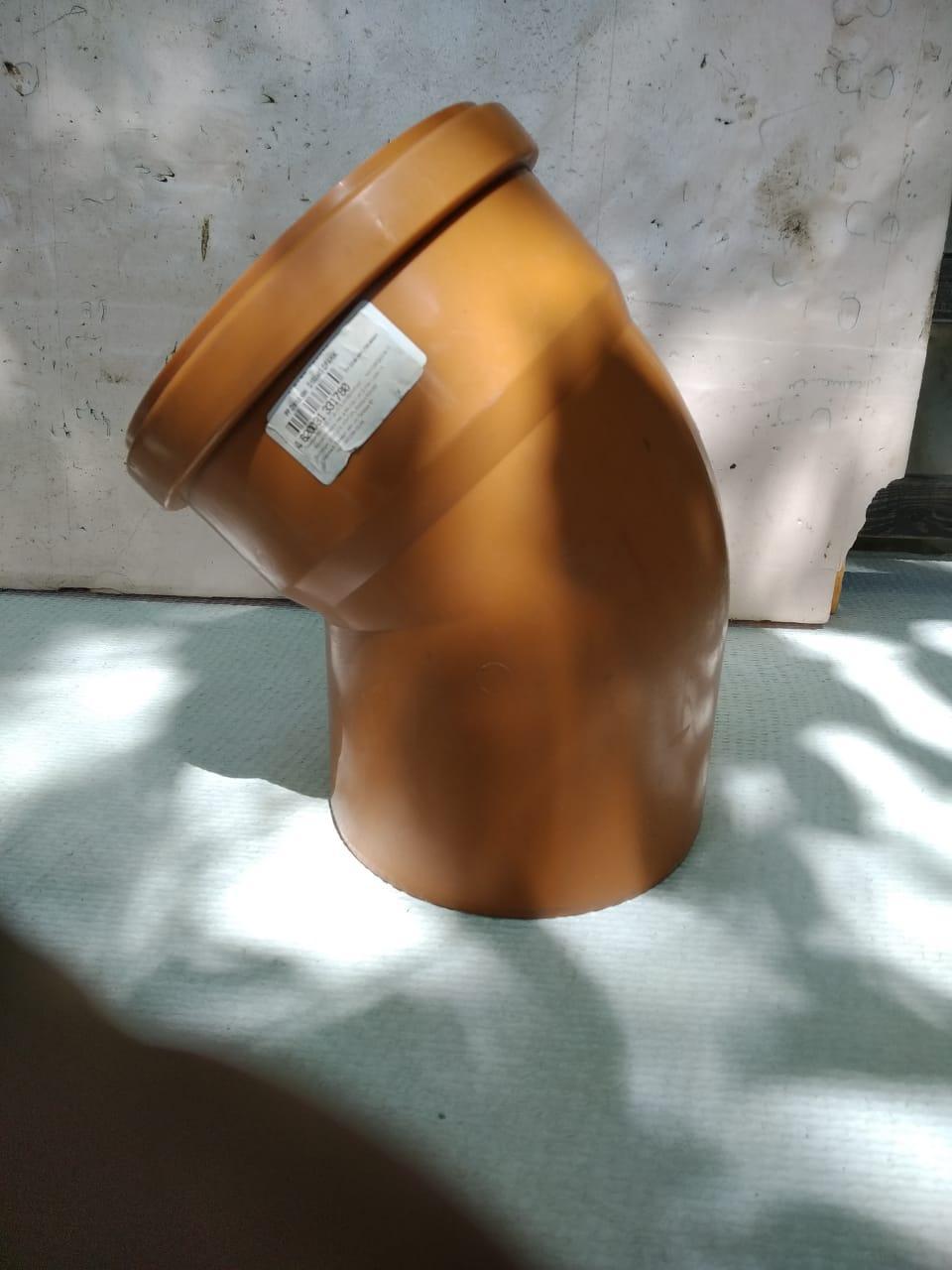 Отвод канализационный 110х45 оранжевый ПП