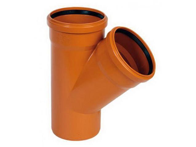 Тройник канализационный 110х110/45 оранжевый