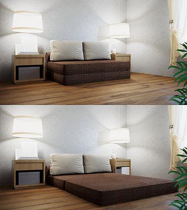 Трансформер Кресло-кровать бескаркасное «Butterfly» Chocolate, фото 2