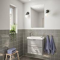 ГОДМОРГОН / ХАГАВИКЕН Комплект мебели для ванной,4 предм., Кашён светло-серый, ВОКСНАН смеситель, белый