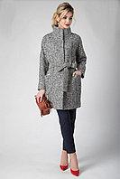 Пальто демисезонное, 40-48, черно-белое