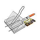 Решетка-гриль универсальная BOYSCOUT 61303 (Сталь с антипригарным покрытием/дерево, 57(+5)х30х25см)