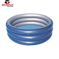 Детский надувной бассейн Big Metallic 3-Ring 170 х 53 см, BESTWAY, 51042, Винил, 697л., 6+