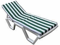 Матрас для шезлонга Зеленые/белые полоски