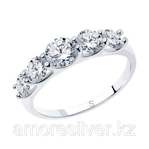Кольцо из серебра со Swarovski Zirconia - есть комплект SOKOLOV 16,5 17,5