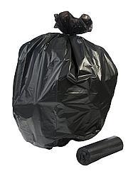 Пакет для мусора черный на 30 литров 26(12+12)*60*15 мкр.