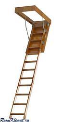 Деревянная чердачная лестница встраиваемая в потолок ЧЛ-2