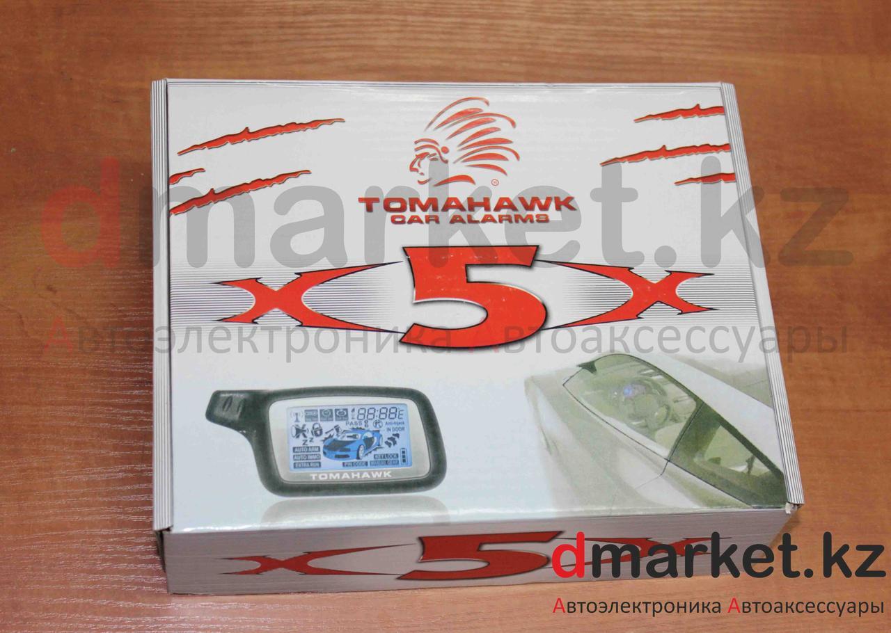 Автосигнализация Tomahawk X5, турботаймер, 2 пульта, будильник, автозавод